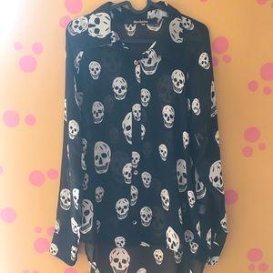 Mendocino skull blouse